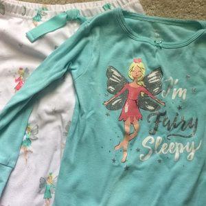 Fairy print glitter pajama set